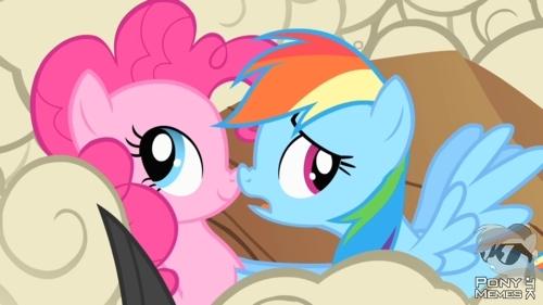 Pinkie i Rainbow