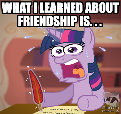 What she learned about friendship ?