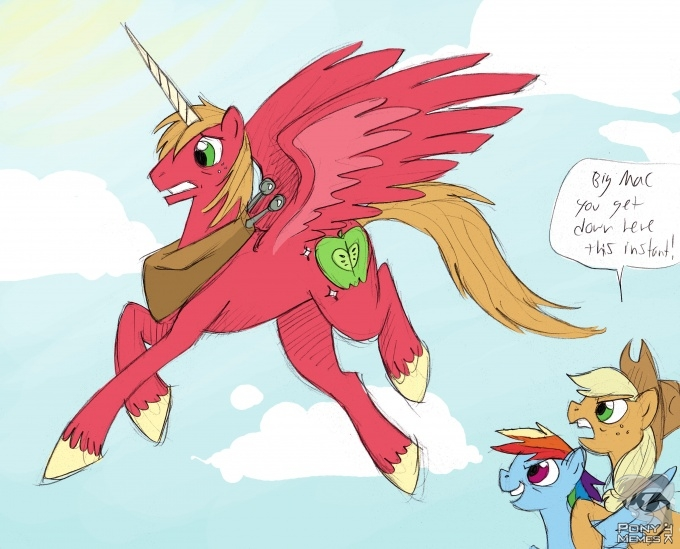 Big Macintosh alicorn ;[