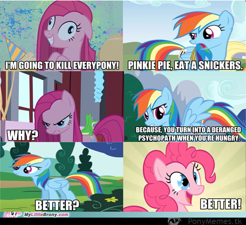 Pinkie Pie eat Snickers