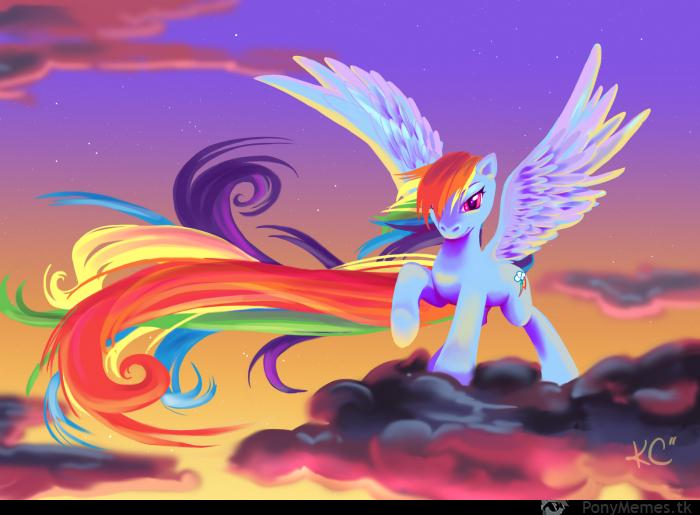 Majestatyczna Rainbow Dash