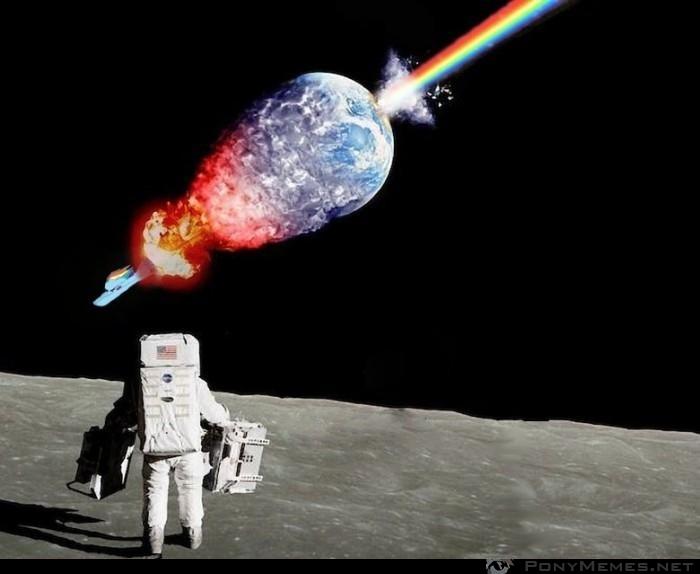 Rainbow Dash niszczy Ziemię