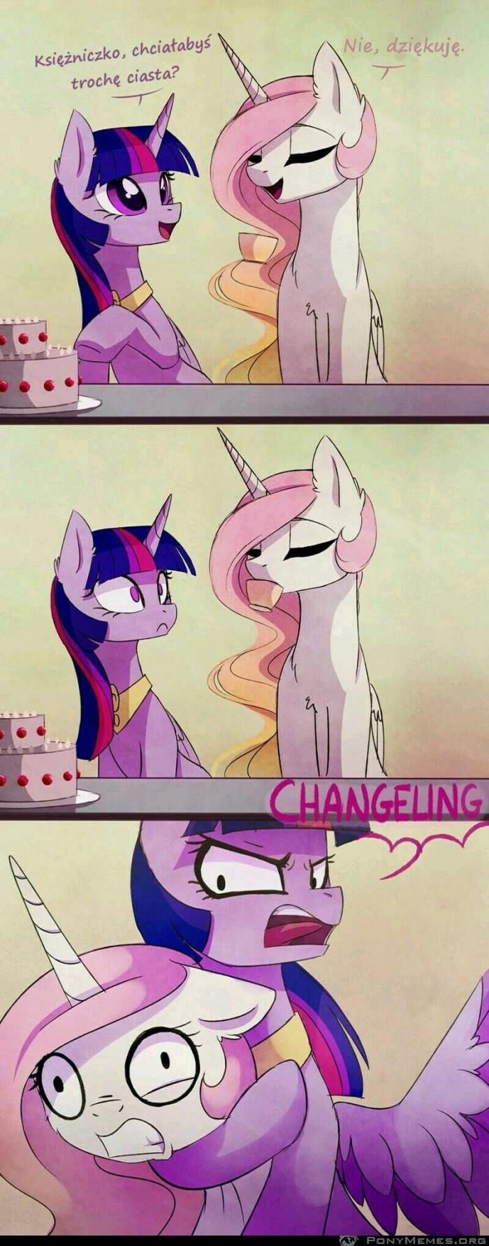 Celestia nigdy nie odmawia ciasta >:c