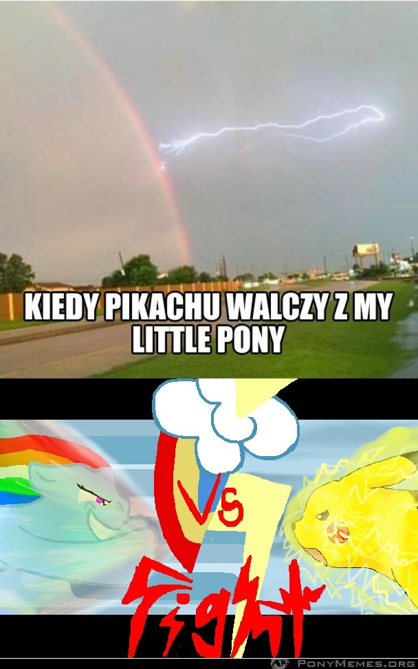 Pikachu vs. My Little Pony
