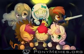 Happy Nightmare Night from cute fillies ^-^  !