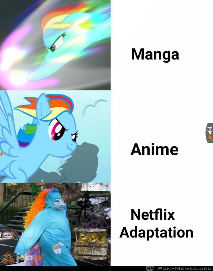 Ah te adaptacje Netflixa
